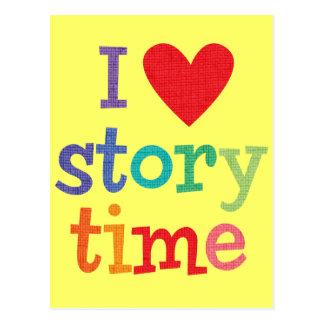 Amo las camisetas y los regalos de Storytime Postales