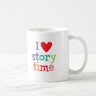 Amo las camisetas y los regalos de Storytime Taza De Café