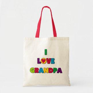 Amo las camisetas y los regalos del abuelo bolsa tela barata