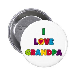 Amo las camisetas y los regalos del abuelo pin