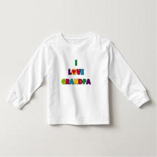 Amo las camisetas y los regalos del abuelo playera