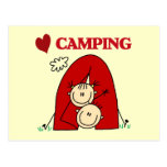 Amo las camisetas y los regalos que acampan postal