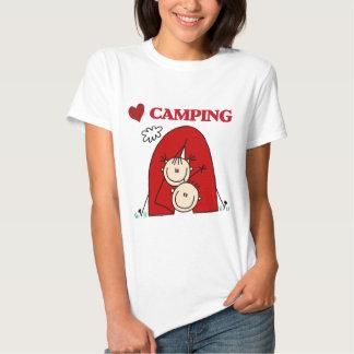 Amo las camisetas y los regalos que acampan remeras