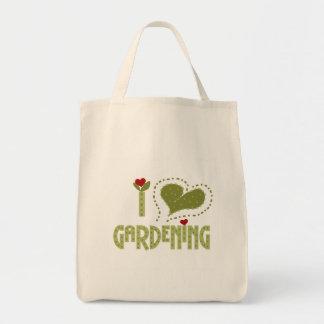 Amo las camisetas y los regalos que cultivan un hu bolsa