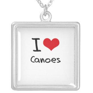 Amo las canoas collar personalizado