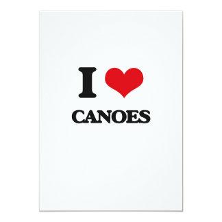 Amo las canoas invitación 12,7 x 17,8 cm