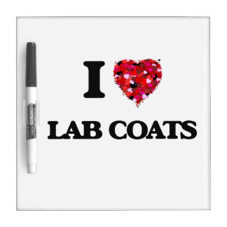Amo las capas del laboratorio pizarras blancas