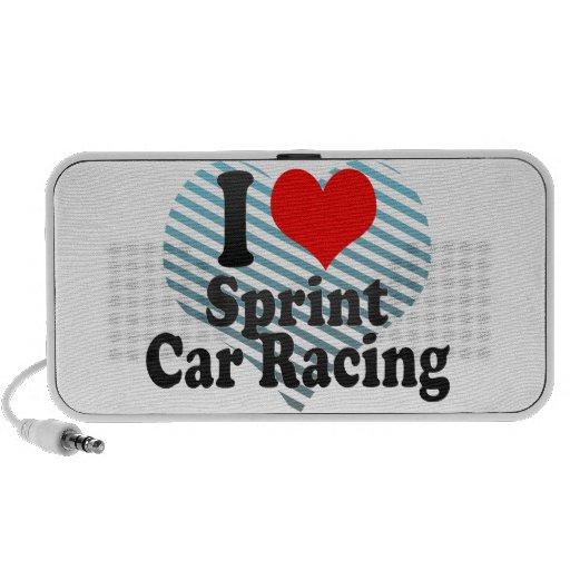 Amo las carreras de coches de Sprint Mp3 Altavoz