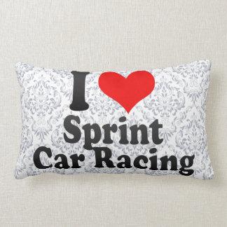 Amo las carreras de coches de Sprint Cojines