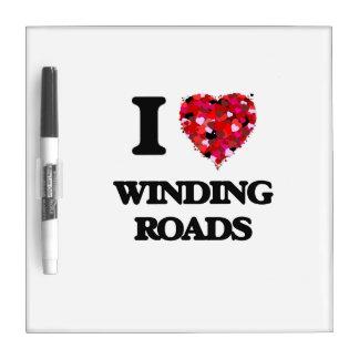 Amo las carreteras con curvas pizarra blanca