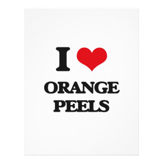 Amo las cáscaras de naranja folleto 21,6 x 28 cm