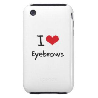 Amo las cejas tough iPhone 3 funda