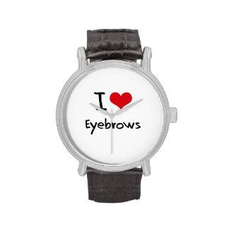 Amo las cejas relojes de pulsera