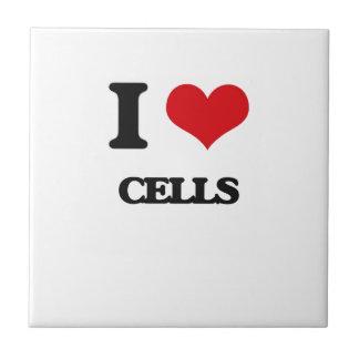 Amo las células azulejos cerámicos