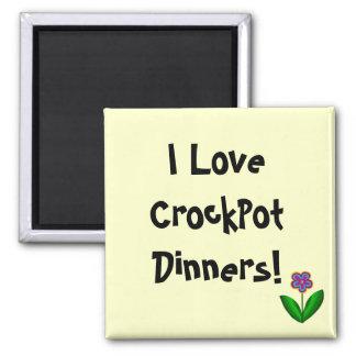 ¡Amo las cenas de CrockPot! - imán