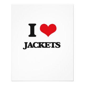 Amo las chaquetas flyer personalizado