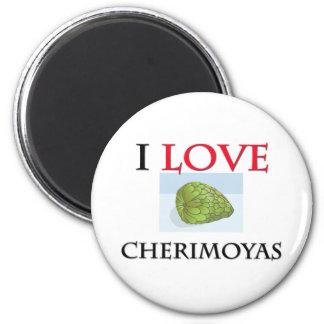 Amo las chirimoyas imán redondo 5 cm