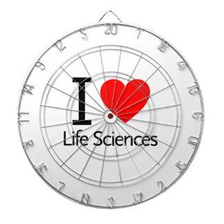 Amo las ciencias de la vida tablero dardos