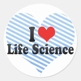 Amo las ciencias de la vida etiquetas redondas