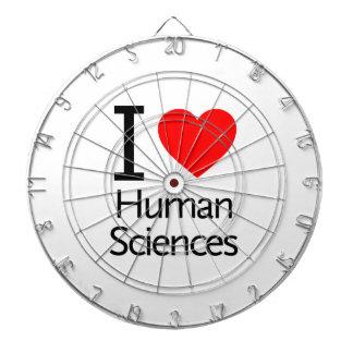 Amo las ciencias humanas tablero de dardos