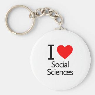 Amo las ciencias sociales llaveros