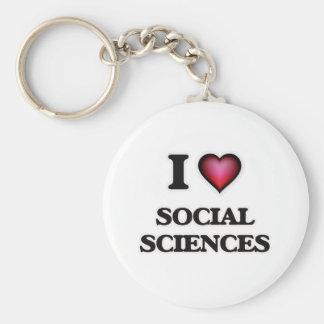 Amo las ciencias sociales llavero redondo tipo pin