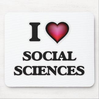 Amo las ciencias sociales tapetes de ratones