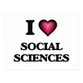 Amo las ciencias sociales tarjeta postal