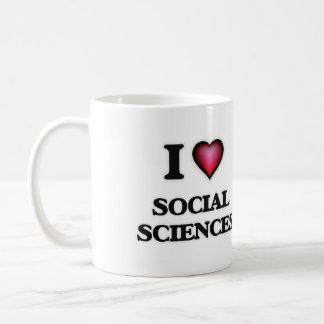 Amo las ciencias sociales taza de café