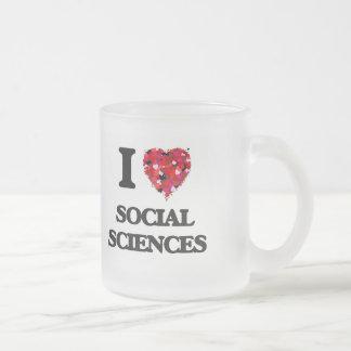 Amo las ciencias sociales taza de cristal