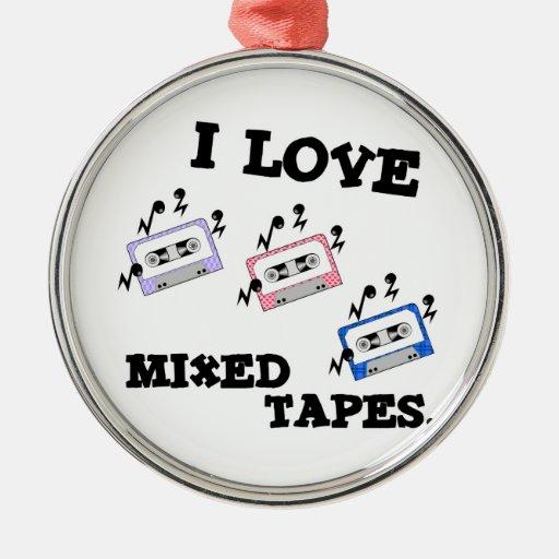 Amo las cintas mezcladas adorno para reyes