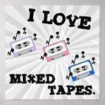 Amo las cintas mezcladas impresiones