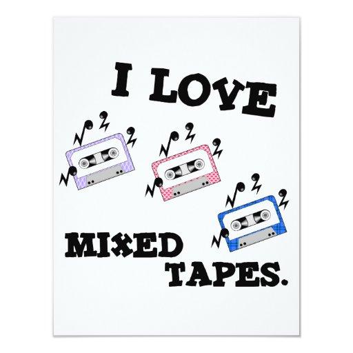 """Amo las cintas mezcladas invitación 4.25"""" x 5.5"""""""