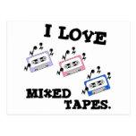 Amo las cintas mezcladas postal