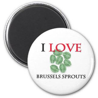 Amo las coles de Bruselas Imán Redondo 5 Cm