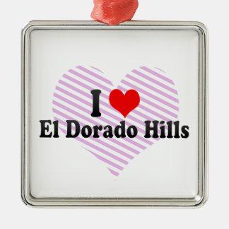 Amo las colinas del EL Dorado Estados Unidos Ornamentos De Reyes