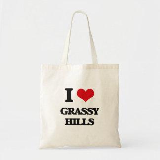 Amo las colinas herbosas bolsa tela barata