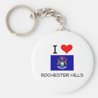 Amo las colinas Michigan de Rochester Llavero Personalizado