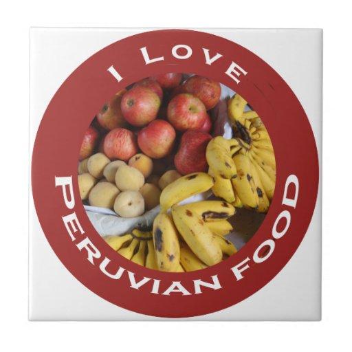 Amo las Comida-Frutas peruanas Azulejos Ceramicos