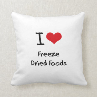 Amo las comidas liofilizadas almohadas