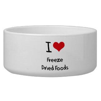 Amo las comidas liofilizadas tazón para perro
