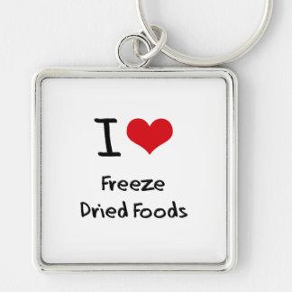Amo las comidas liofilizadas llaveros personalizados
