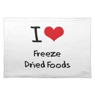 Amo las comidas liofilizadas manteles individuales