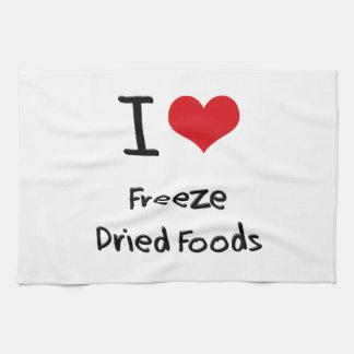 Amo las comidas liofilizadas toallas de mano