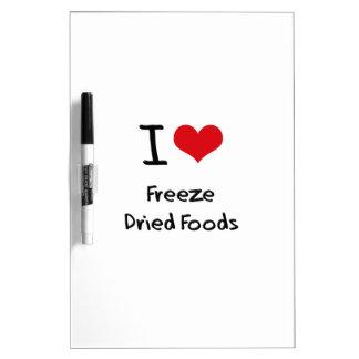 Amo las comidas liofilizadas pizarra