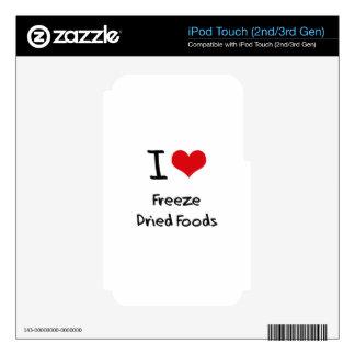 Amo las comidas liofilizadas calcomanía para iPod touch 3G