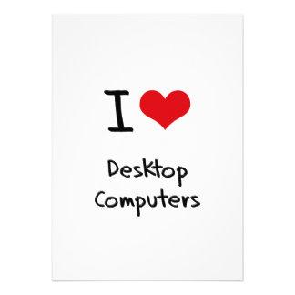 Amo las computadoras de escritorio invitación personalizada