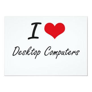 """Amo las computadoras de escritorio invitación 5"""" x 7"""""""