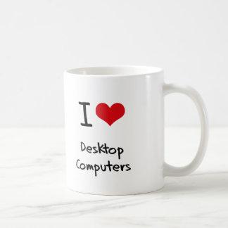 Amo las computadoras de escritorio tazas de café