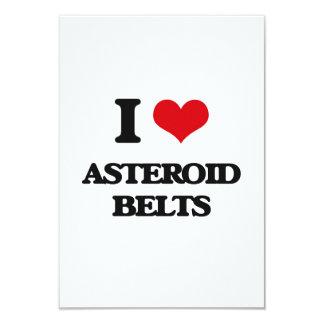 """Amo las correas asteroides invitación 3.5"""" x 5"""""""